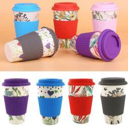 400ml Reusable Bamboo Fibre Ecoffee Milk Cups Eco Friendly T