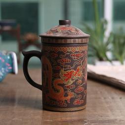 420ml Purple Clay Dragon Tea Cup Classical Kung Fu Tea Ceram