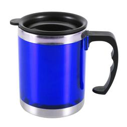 450ml Insulated Coffee Desktop Mugs  With Lid  Stainless Ste