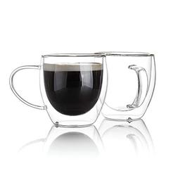 Sweese 4611 Glass coffee mugs - Double Wall Insulated Glass