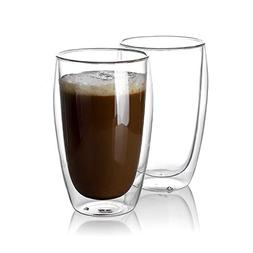Sweese 4615 Large Coffee Cups 15 oz - Double Wall Highball G