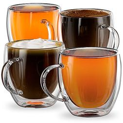 Stone & Mill Double Wall Insulated Glass Espresso Cups Set o