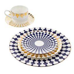 5 Piece Fine Bone China Dinnerware Dishes Set Table Place Se