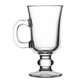Pasabahce 55141, 7 3/4 oz Classic Glass Irish Coffee Mug wit