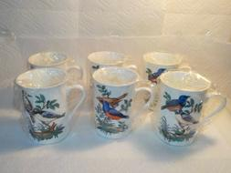 6 Bone China Birds On A Branch Mug Dadoos Coffee Tea Cup Bir