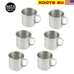 6 Pack Stainless Steel Coffee Soup Mug Tumbler Camping Mug C