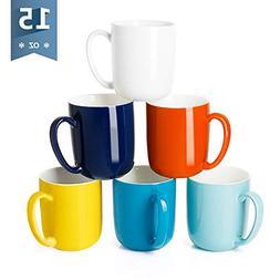 Sweese 6217 Porcelain Mugs for Coffee, Tea, Cocoa, 15 Ounce,
