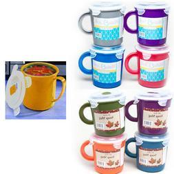 6Pc BPA Free Travel Mug Coffee Soup 23 oz Take Out Food Cont