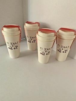 8 17oz Travel Coffee Cup/Mug Reusable, Dishwasher & Microwav