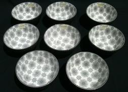 "8 - Pfaltzgraff EVERYDAY Grey 6"" Bowls Snowflakes & Honeycom"