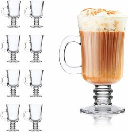 8oz coffee mug glass mugs with handle