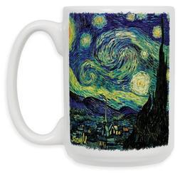 "Art Plates""Van Gogh Starry Night"" Ceramic Coffee Mug, 15 oz"