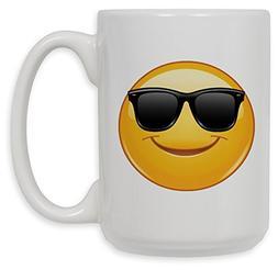 Art Plates brand - 15 Oz Ceramic Coffee Mug - Sun Glasses Em
