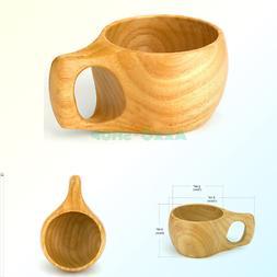 Bamber Wood Mug, Teacup, Novelty Coffe Mugs - Rubber Wood