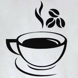 Beautiful Coffee Mug Tea Coffee Art Decal Wall Stickers Kitc