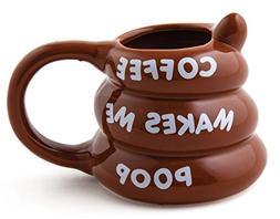 BigMouth Inc Coffee Makes Me Poop Mug, Funny Gag Gift, 14 oz