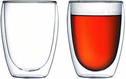 Bodum Pavina Glass, Double-Wall Insulate Glass, Clear, 12 Ou