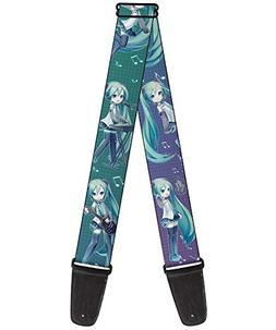 "Buckle-Down GS-WHAT005 Guitar Strap - ""Chibi Hatsune Miku Po"
