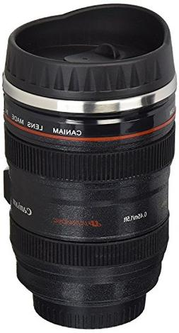 Coffee Mug - Camera Lens Travel Thermos - Stainless Steel In