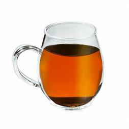 Crystal Clear Glass Coffee/Tea Mug by Sun's Tea  | 16 oz |