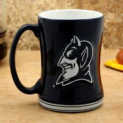 Duke Blue Devils 15 oz Relief Mug - Royal