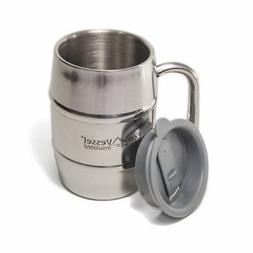 EcoVessel DOUBLE BARREL Double Wall Insulated Stainless Stee