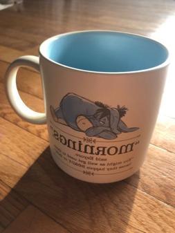 "Eeyore ""Mornings"" Coffee Mug from Winnie the Pooh"