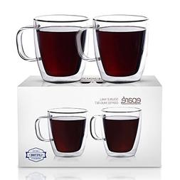 Eparé Insulated Coffee Cups Set Double Wall Tumbler Gl