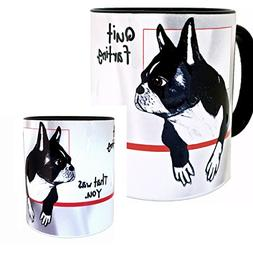 Farting Boston Terrier Mug by Pithitude - One Single 11oz. B