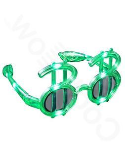 Fun Central G733 LED Light Up Green Dollar Shades