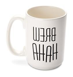 Funny Mug - Made in USA - Brew HAHA - 14 oz. Ceramic coffee