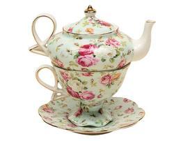 Gracie China by Coastline Imports 4-Piece Porcelain Tea for