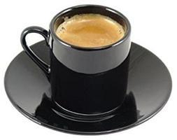 HIC 8-Piece Demitasse Espresso Cups Set, Fine Black Porcelai