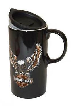 Harley-Davidson Travel Latte Mug, Bar & Shield Eagle Tall Bo