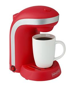 Kitchen Selectives Single Drip Coffee Maker with Mug, Red, C