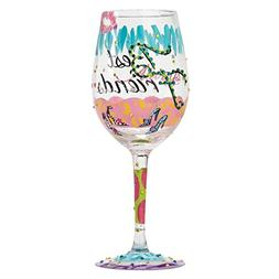 Lolita Best Friends Always Artisan Painted Wine Glass Gift