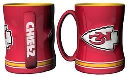 NFL Sculpted Coffee Mug, 14  Ounces, Kansas City Chiefs