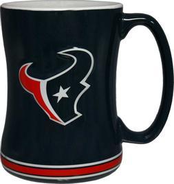 NFL Sculpted Coffee Mug, 15 Ounces, Houston Texans