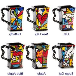 New Romero Britto Square Mug Coffee Ceramic Authentic Dolomi