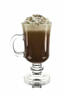 Original Footed Clear Glass Irish Coffee Mug, Set of 6 - 7.7