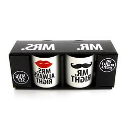 Our Name is Mud Mr. and Mrs. Stoneware Coffee Mug Set