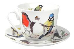 Roy Kirkham Garden Birds Breakfast Teacup and Saucer Set Fin