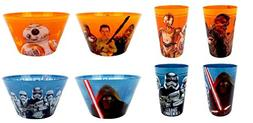 Star Wars: Episode VII 8-pc. Melamine Cup and Bowl Set