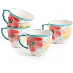 The Pioneer Women Flea Market Vintage Bloom 16 oz Coffee Cup