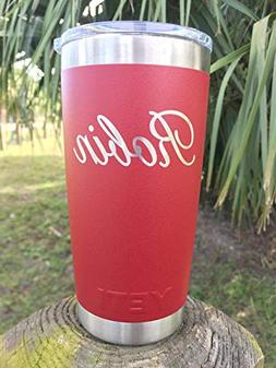 YETI Rambler Custom Engraved w/Name - Available in your choi