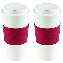 Copco Acadia Travel Mug, 16-Ounce, Cherry Red 2510-9990 2 Pa