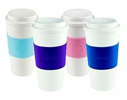 Copco Acadia Reusable To Go Mug, 16-ounce Capacity 4-pack