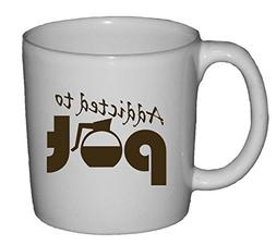 Fairly Odd Novelties Addicted to Pot Funny Coffee Mug, White