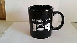 ADDICTED TO POT BLACK COFFEE CUP MUG FUNNY GAG GIFT OFFICE C