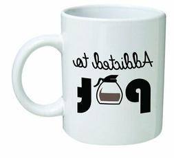 Addicted To Pot Coffee Mug 11 Oz Ceramic Tea Cup Mug